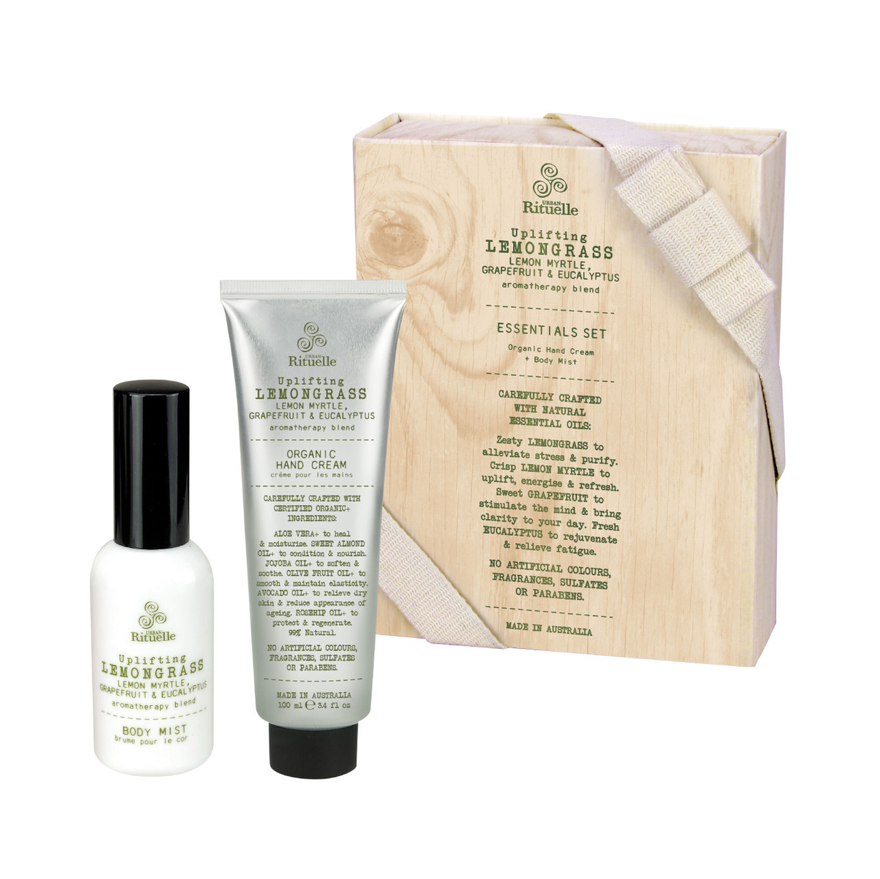 Flourish Organics - Essentials Set - Lemongrass - Urban Rituelle