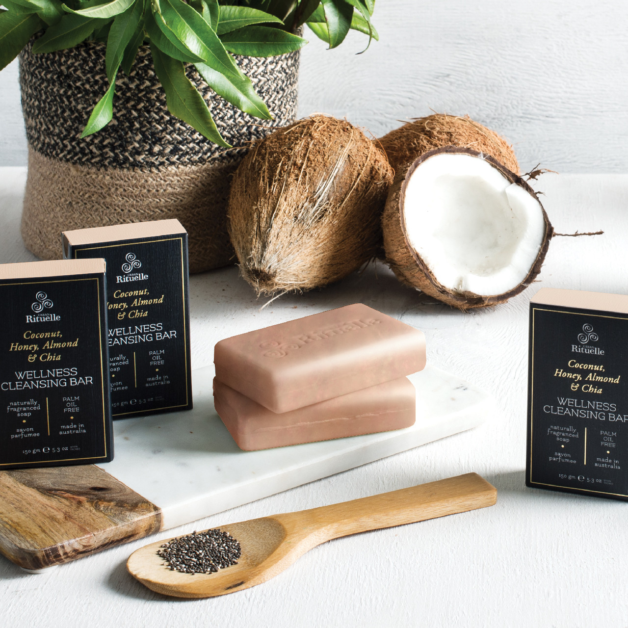 Harvest - Coconut - Wellness Cleansing Bar - Urban Rituelle