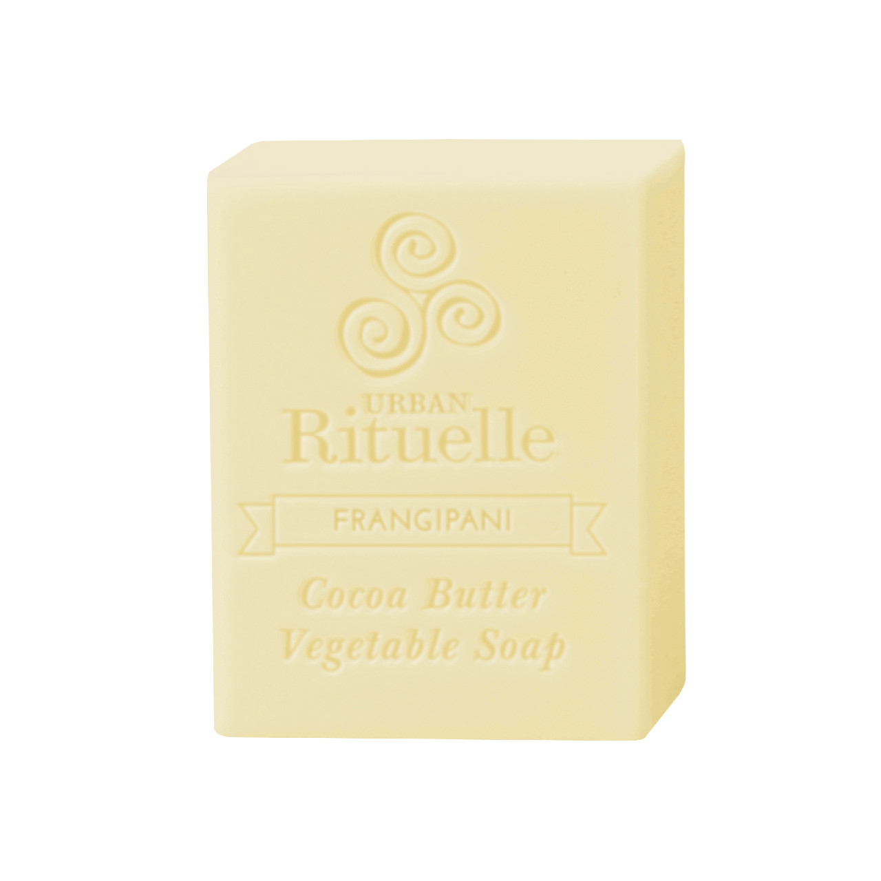 Organic Cocoa Butter Vegetable Soap - Frangipani - Urban Rituelle