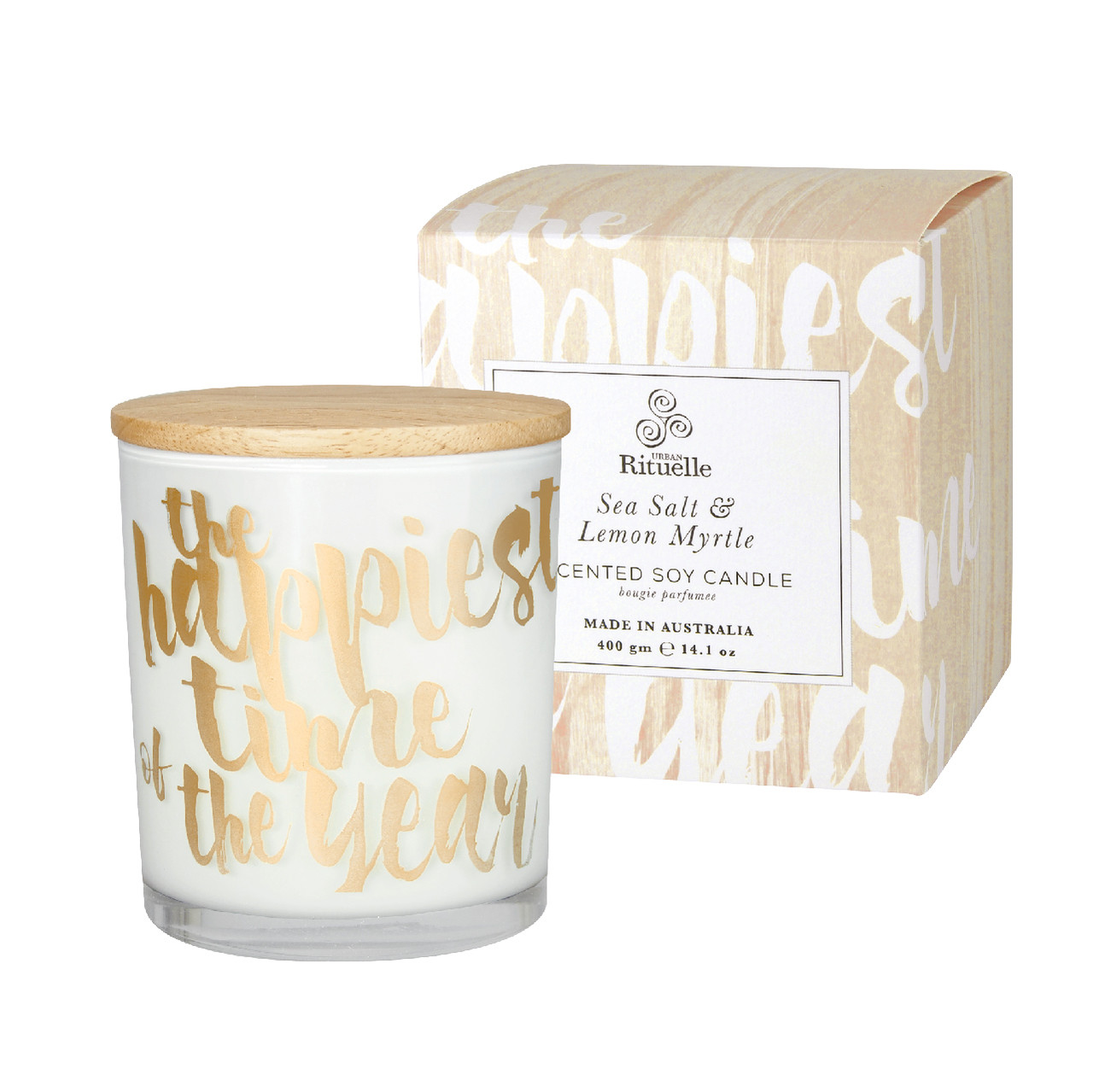 Summer Holiday - Sea Salt & Lemon Myrtle - Scented Soy Candle - Urban Rituelle