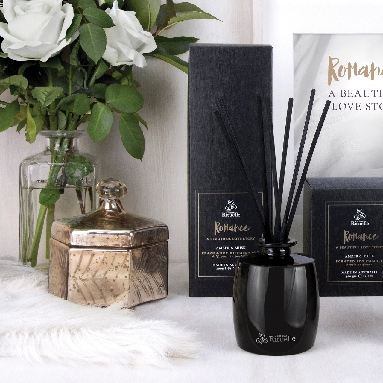 Scented Offerings - Romance - Amber & Musk - Fragrance Diffuser Set - Urban Rituelle