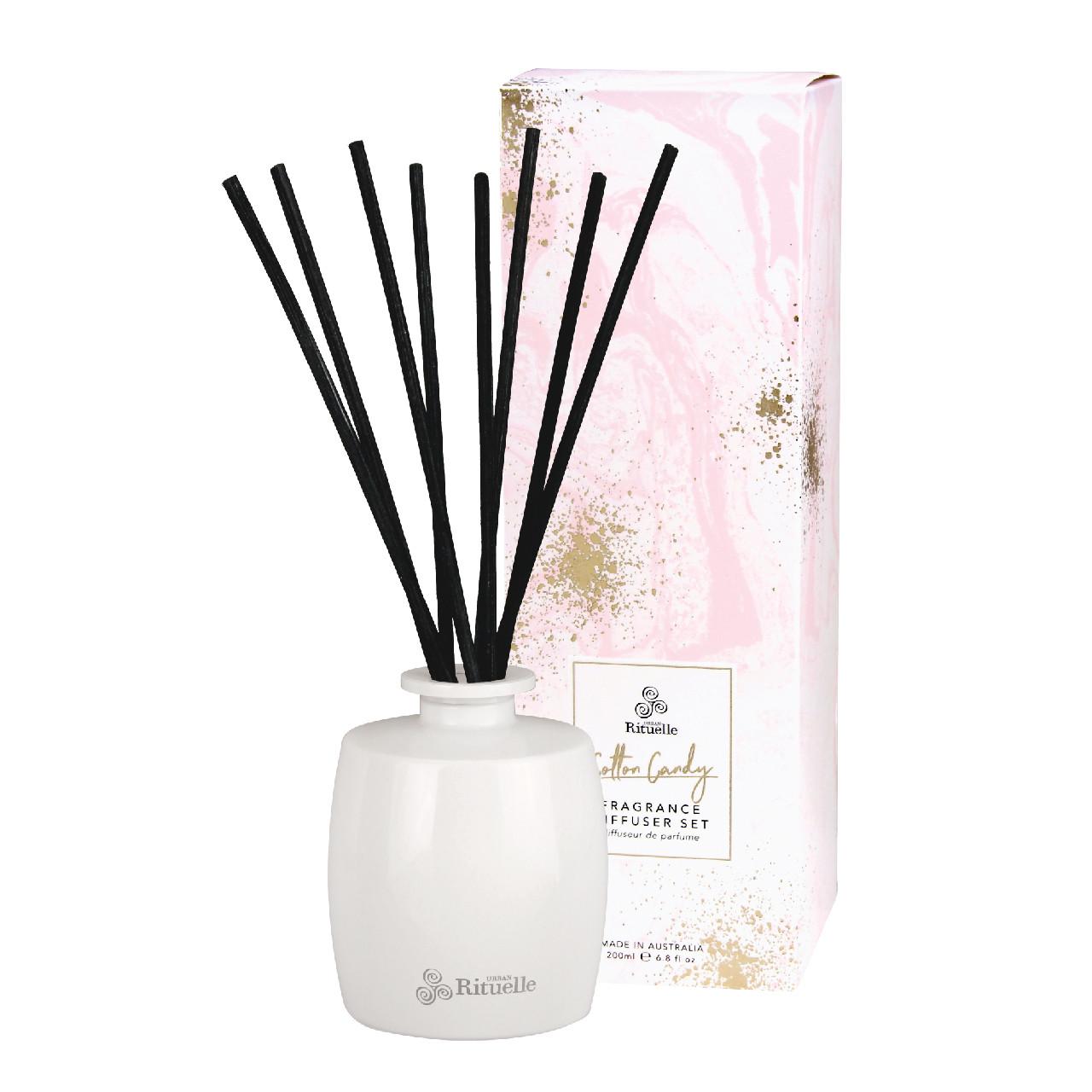 Sweet Treats - Cotton Candy - Organic Lip BalmFragrance Diffuser Set