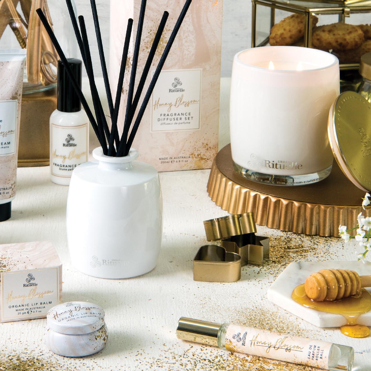 Sweet Treats - Honey Blossom - Fragrance Diffuser Set -  Urban Rituelle
