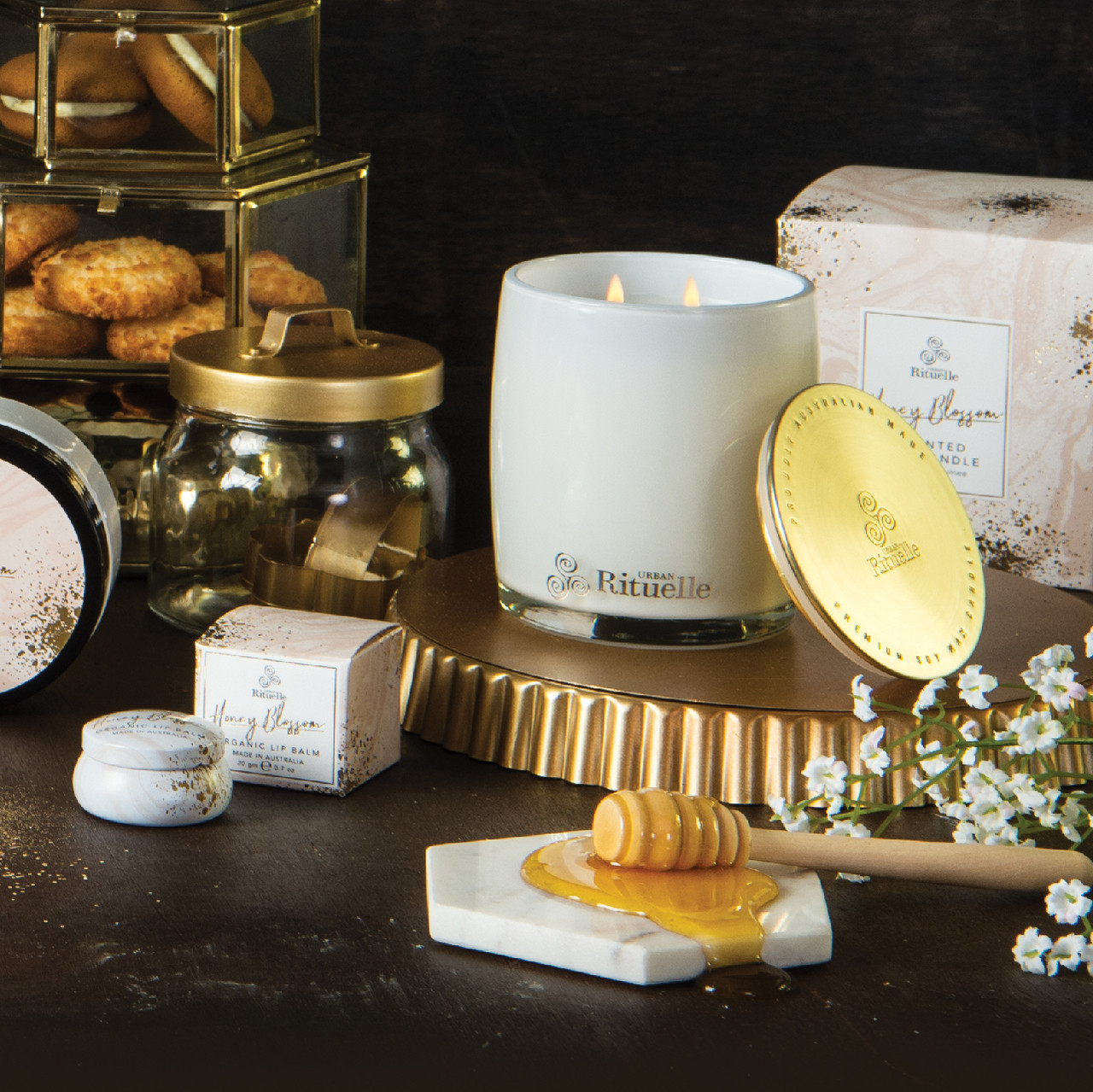 Sweet Treats - Honey Blossom - Scented Soy Candle - Urban Rituelle