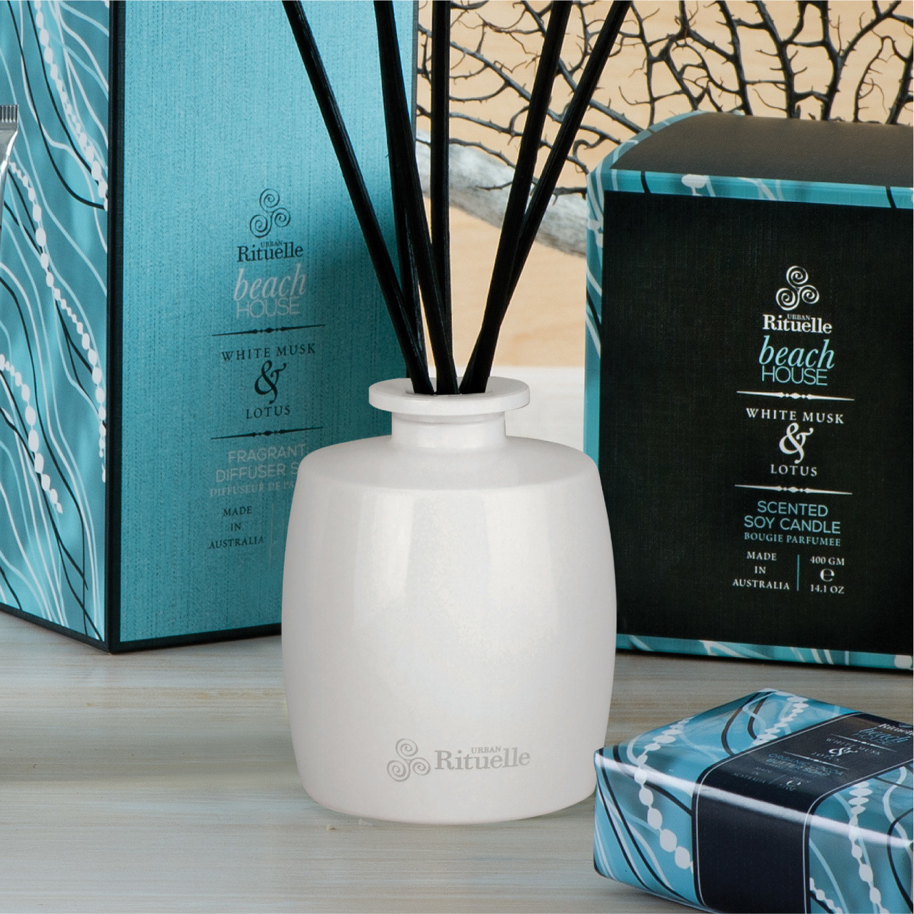 Weekender - Beach House - White Musk & Lotus - Urban Rituelle