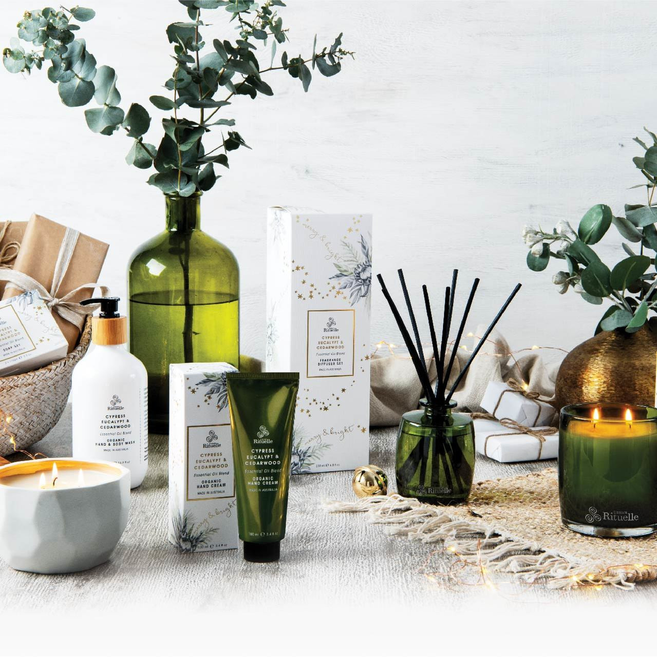 Festive Botanica - Cypress, Eucalypt & Cedarwood - Organic Soap Set - Urban Rituelle
