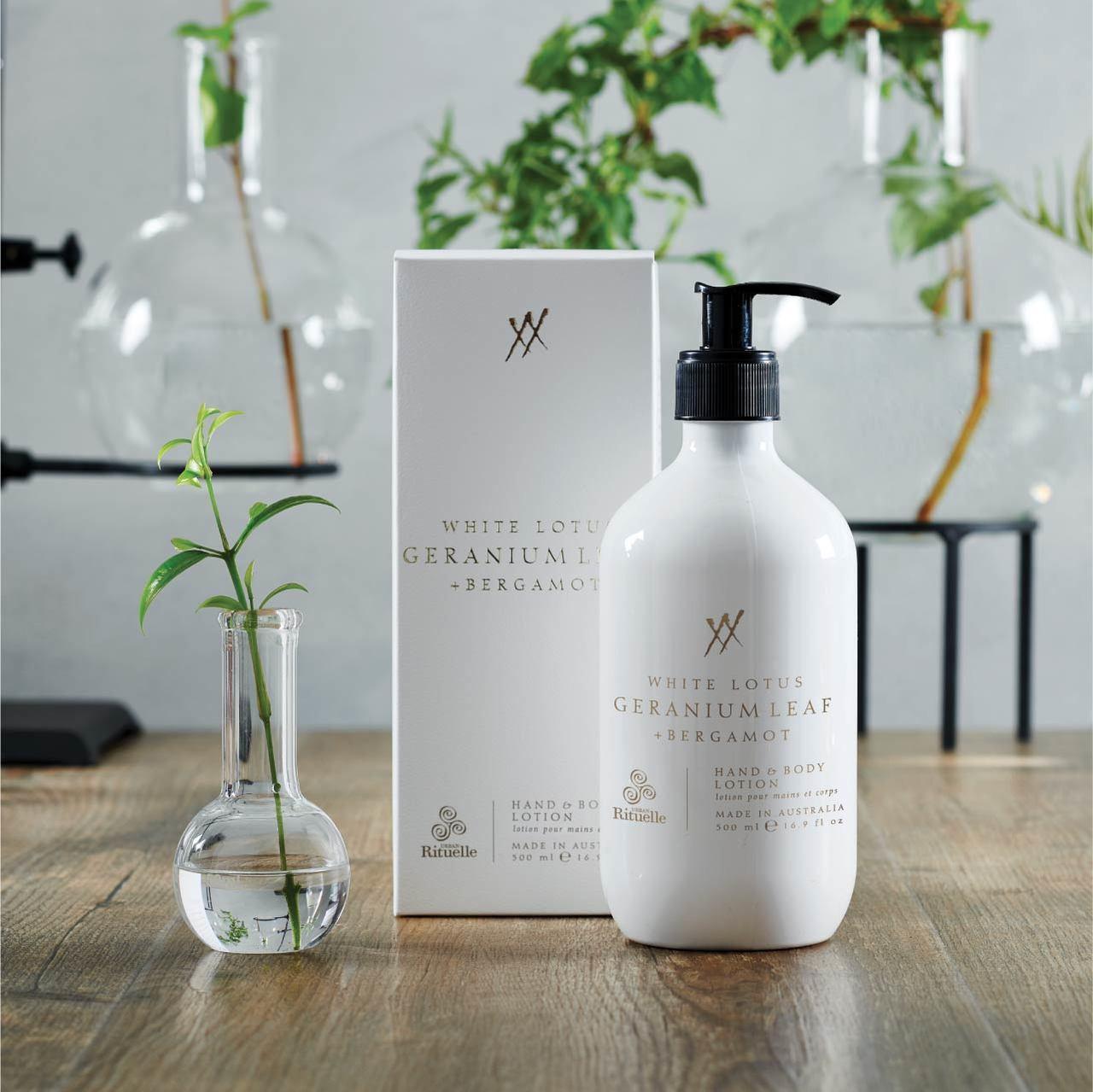 Alchemy - White Lotus, Geranium Leaf & Bergamot - Hand & Body Lotion - Urban Rituelle