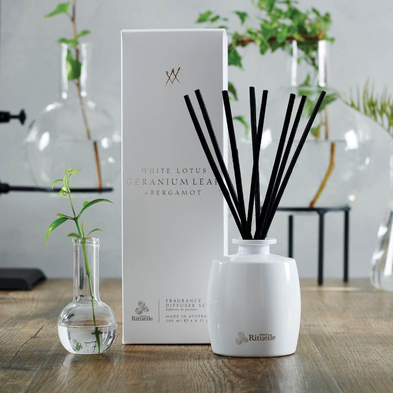 Alchemy - White Lotus, Geranium Leaf & Bergamot - Fragrance Diffuser Set - Urban Rituelle