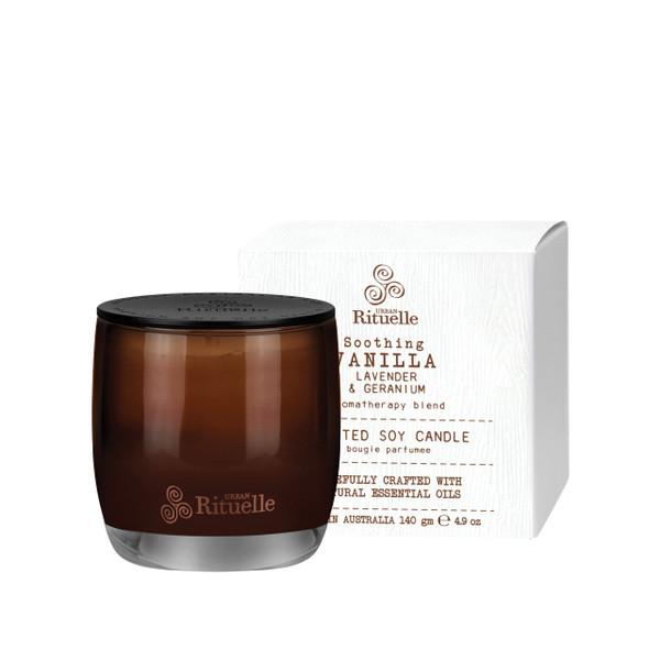 Flourish Organics - Vanilla, Lavender & Geranium Scented Soy Candle - Urban Rituelle