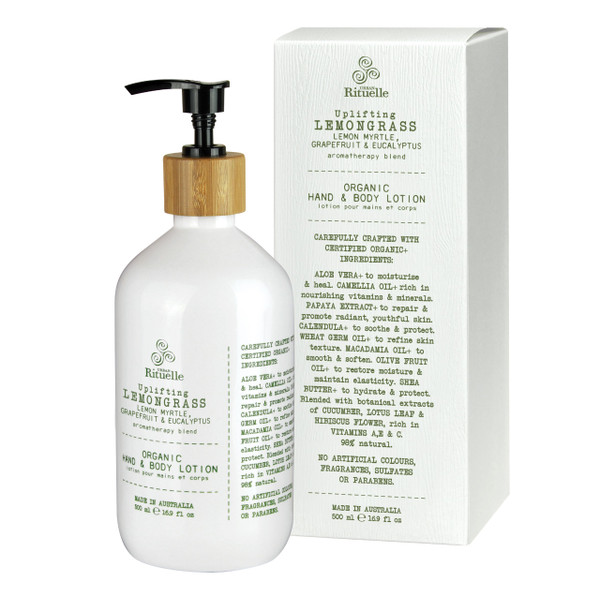 Flourish Organics - Hand & Body Lotion - Lemongrass  - Urban Rituelle