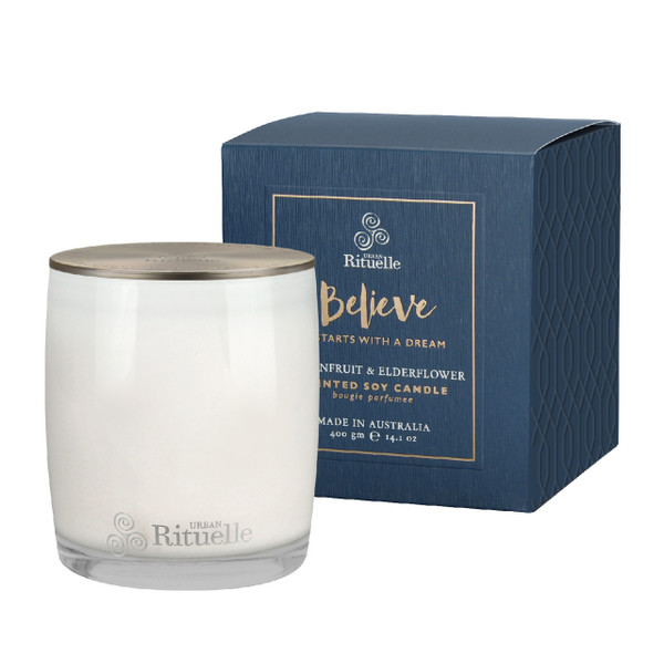 Scented Offerings - Believe - Passionfruit & Elderflower - Scented Soy Candle - Urban Rituelle