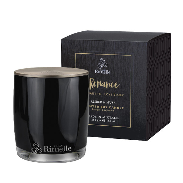 Scented Offerings - Romance - Amber & Musk - Scented Soy Candle - Urban Rituelle