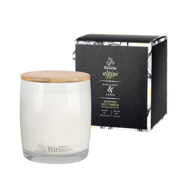 Weekender -  Alpine Loft  - Bergamot & Amber - Scented Soy Candle - Urban Rituelle