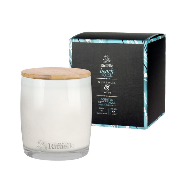 Weekender - Beach House - White Musk & Lotus - Scented Soy Candle - Urban Rituelle
