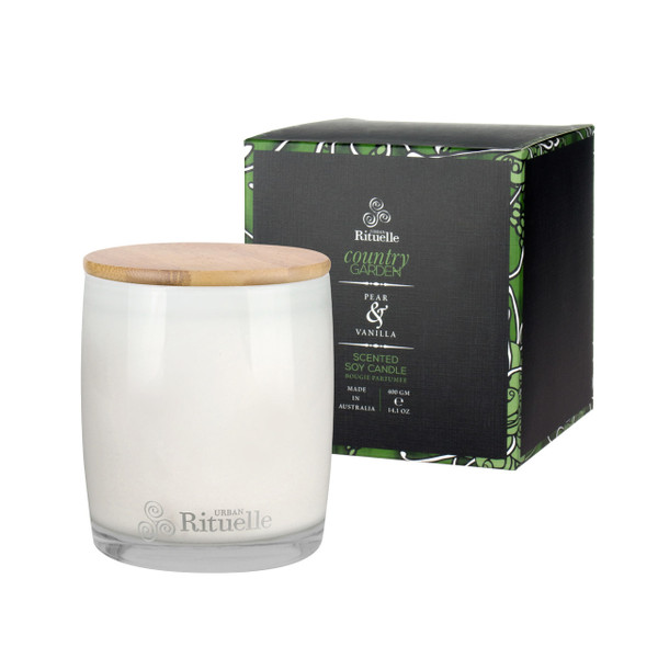 Weekender - Country Garden - Pear & Vanilla - Scented Soy Candle - Urban Rituelle