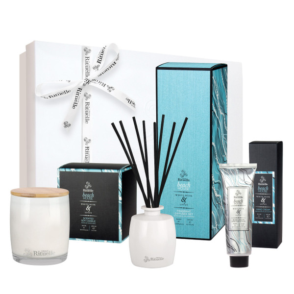 Weekender - Beach House - Deluxe Hamper - White Musk & Lotus - Urban Rituelle