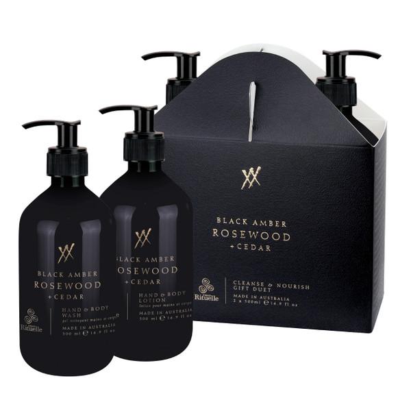 Alchemy - Black Amber, Rosewood & Cedar - Cleanse & Nourish Gift Duet - Urban Rituelle