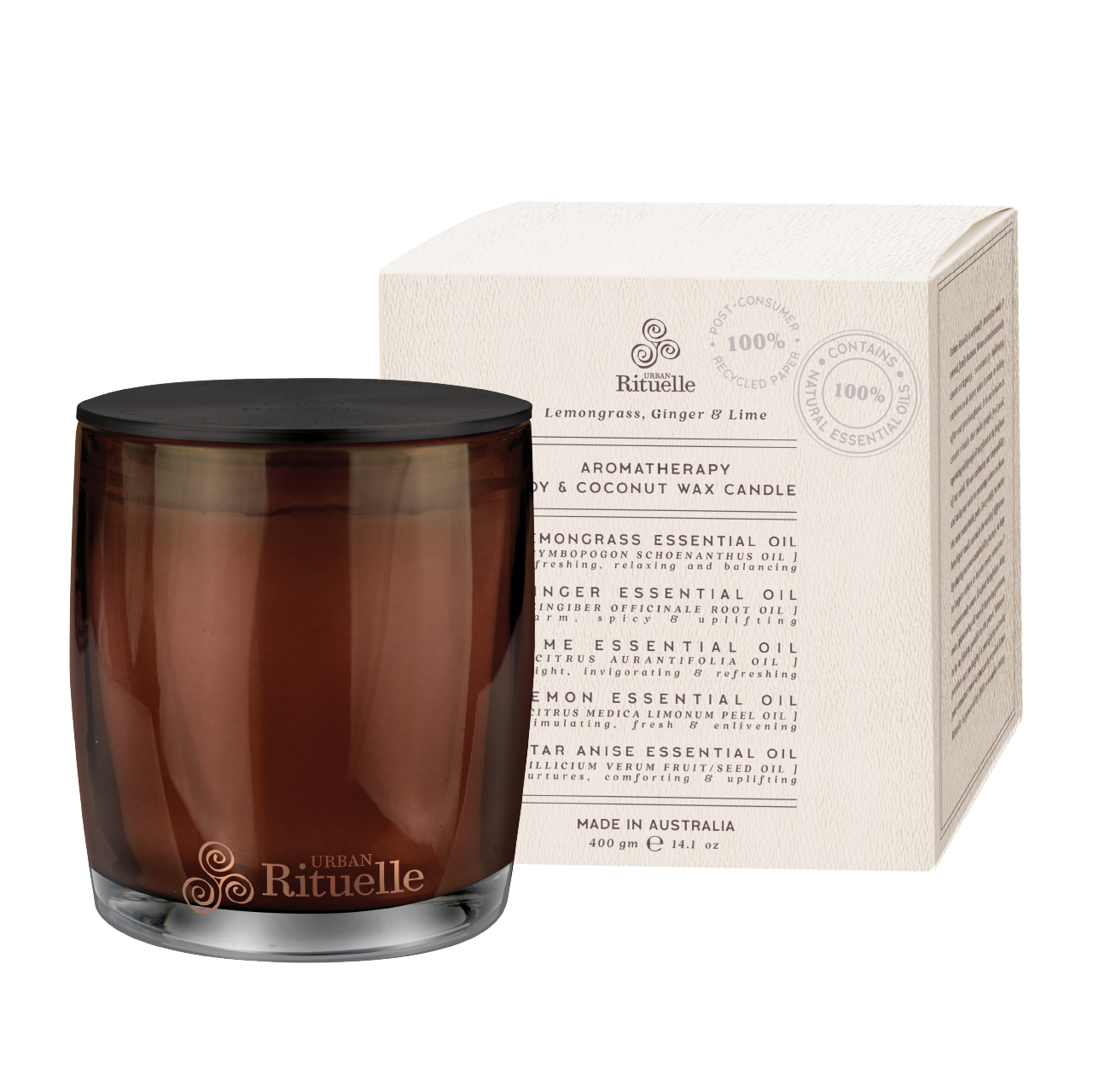Natural Remedy - Aromatherapy Soy & Coconut Wax Candle