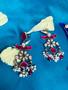 92.5 Silver  Kundhan Flower & Drop Earring