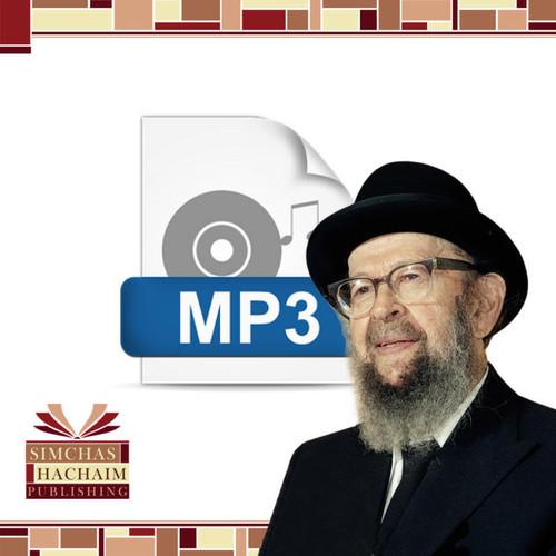 Blessings of Shabbas (#E-38) -- MP3 File