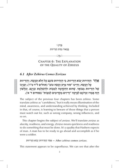 Ohr Avigdor Mesillas Yesharim sample pages
