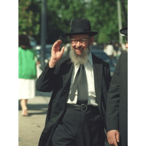 8x10 Picture — Rabbi Miller Waving