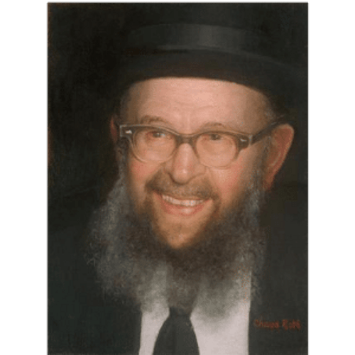 Rabbi Avigdor Miller Portrait by Chava Roth