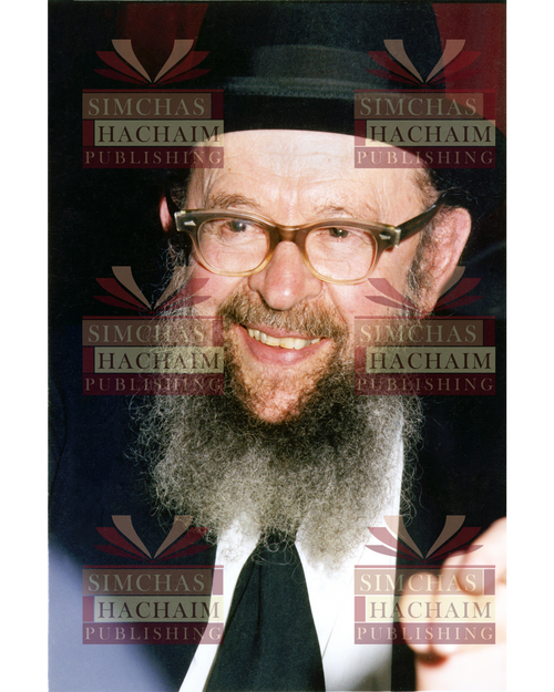 8x10 Picture — Rabbi Miller Smiling