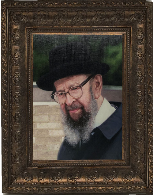 Rabbi Miller Outside Pose — Framed Painting