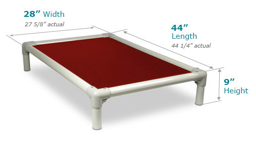 Illustration showing dimensions of X-Large Size Bed