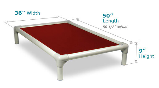 Illustration showing dimensions of XX-Large Size Bed