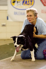 Sharon Harrell of the New River Rapids Flyball Club