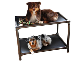 Dog Bunk Bed (Walnut)