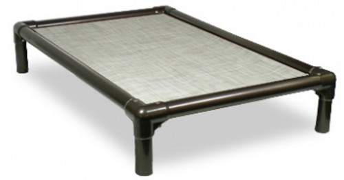 Walnut PVC Bed with Vinyl Weave Birch Forest