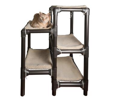 Phenomenal Walnut Cat Tower Dailytribune Chair Design For Home Dailytribuneorg