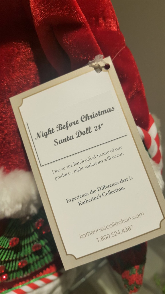 "Night Before Christmas Santa Doll 24"" Limited Stock"