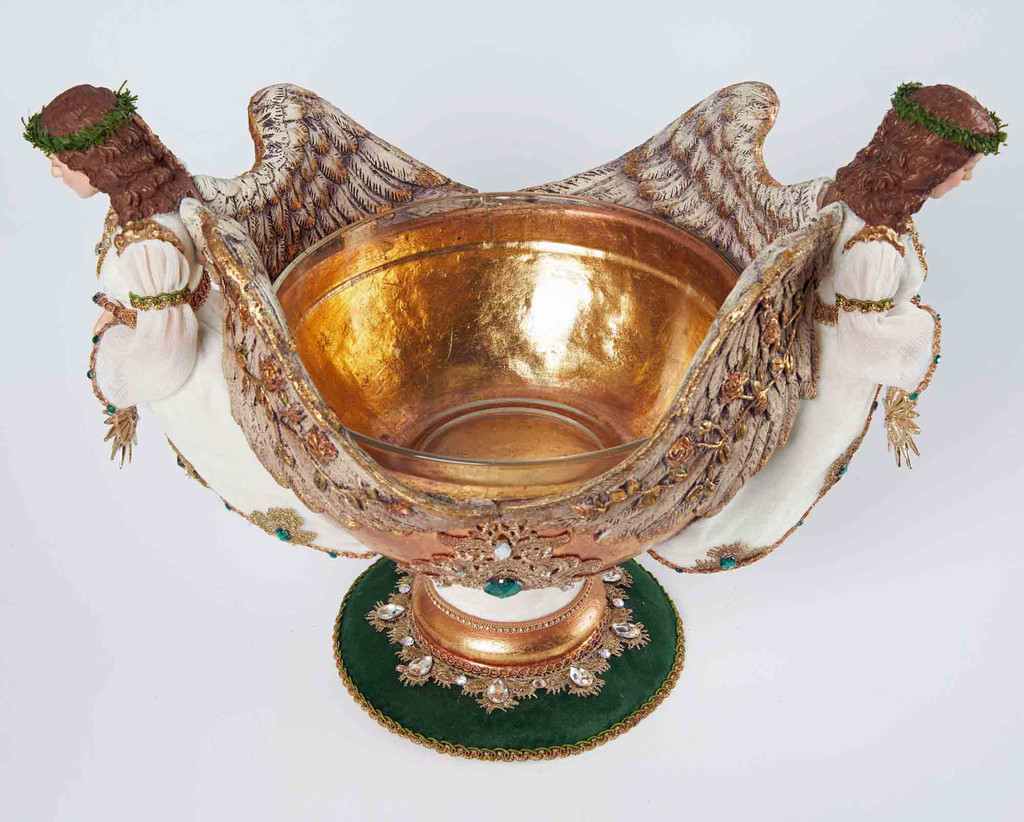 Katherine's Collection 2021 Evergreen Lane Bowl with Angels