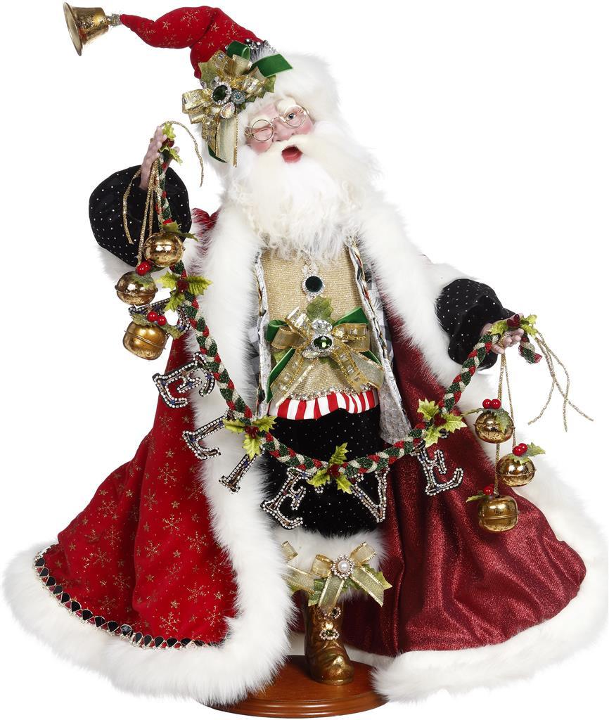Large Mark Roberts Santa Doll Believe