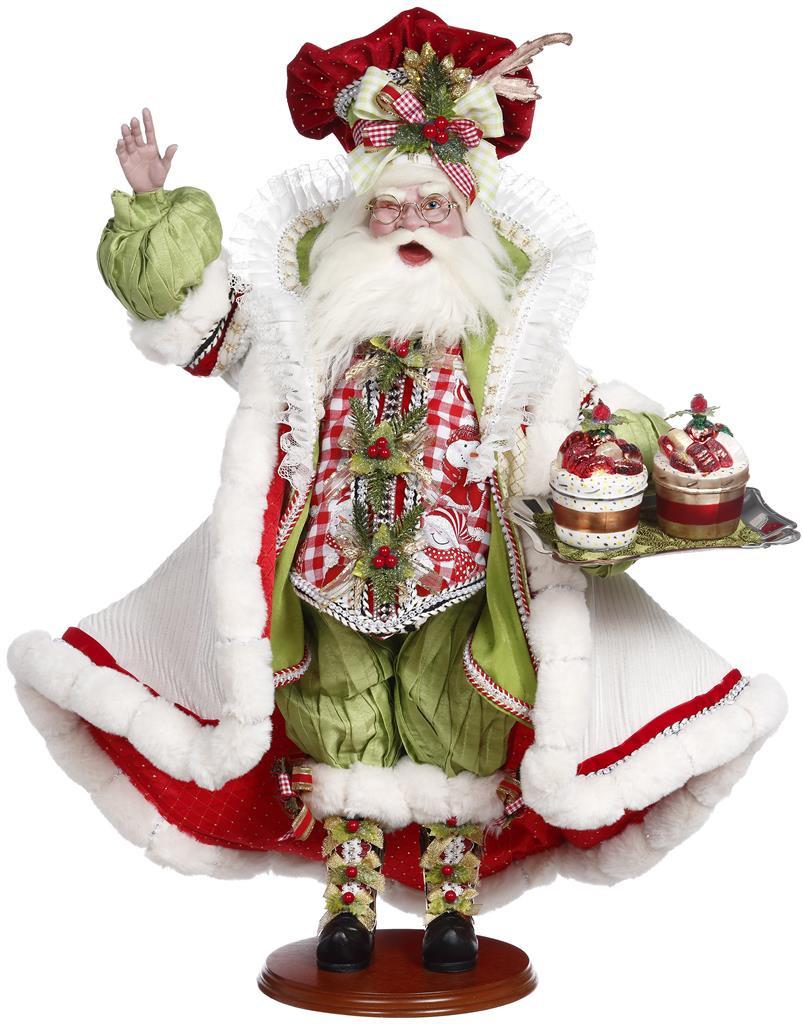Sugar And Spice Santa Doll Display