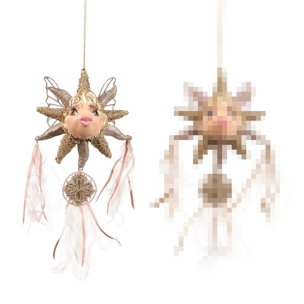 BOH.FAIRY DREAMC.STAR FISH ORN 2CRM/PNK 12CM