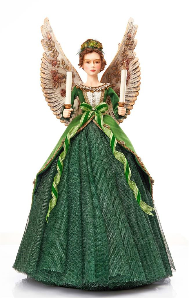 EVERGREEN LANE BELL ANGEL TT GRN 67CM