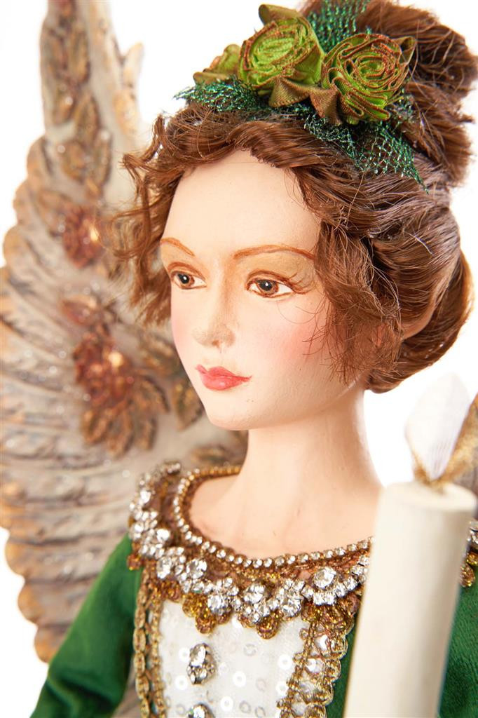 Katherine's Collection 2021 Ever Green Lane Bell Angel TT GRN 67CM