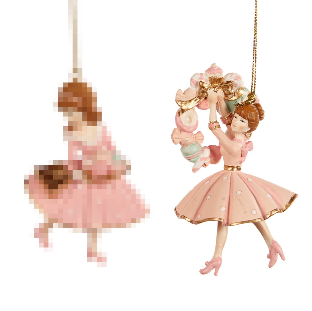 Goodwill 2021 Candy Macaroon Girl Tree Ornament