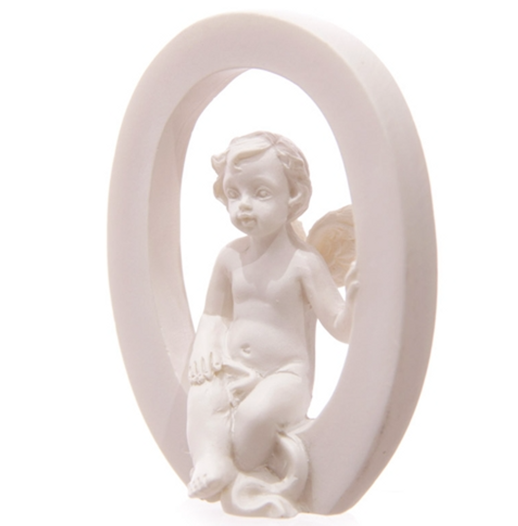 Joy Letter Christmas Cherub