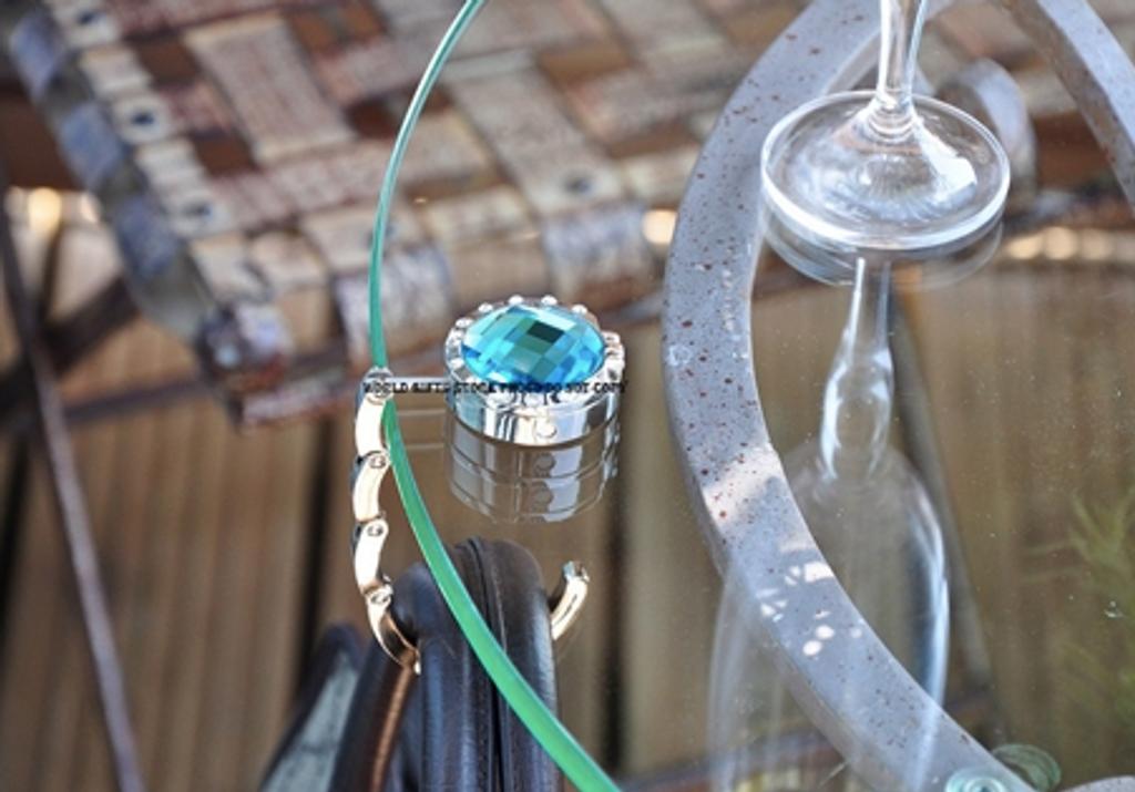 Turquoise Handbag Table Hook
