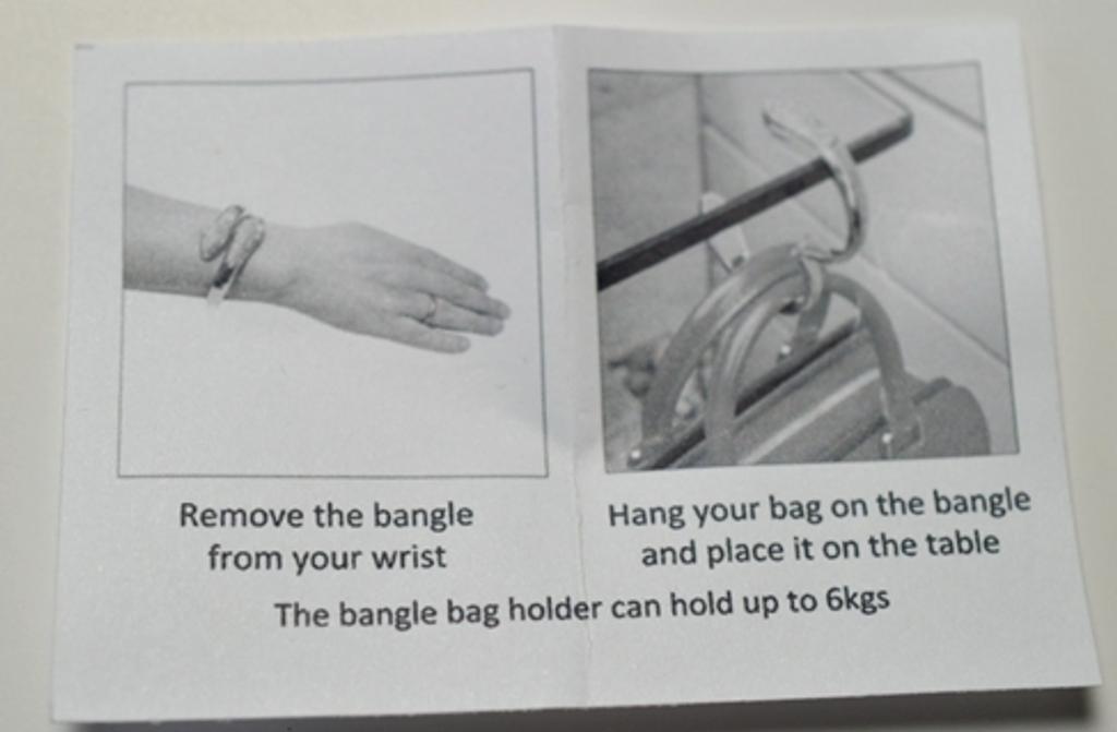 Crystal Bangle Handbag Table Hook