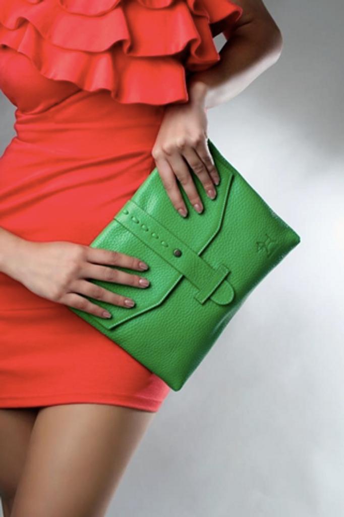 iPad Leather Clutch Bag