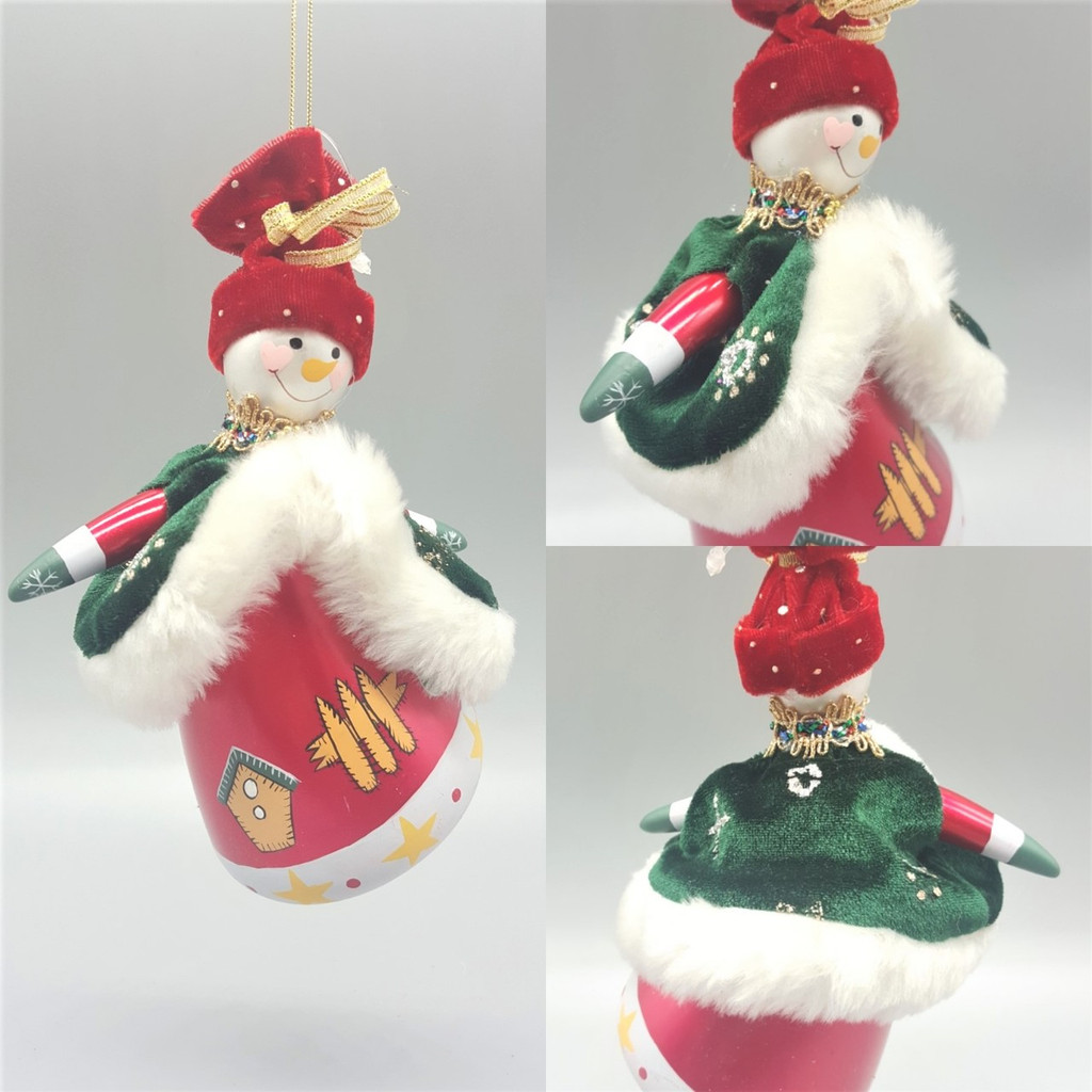 Hand Made Glass Snow Lady Christmas Tree Decoration