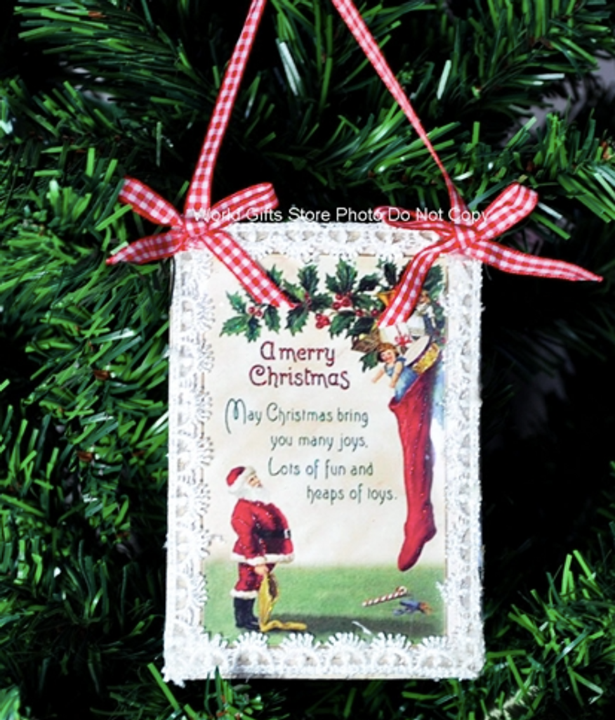 Christmas Tree Decoration Vintage Post Card