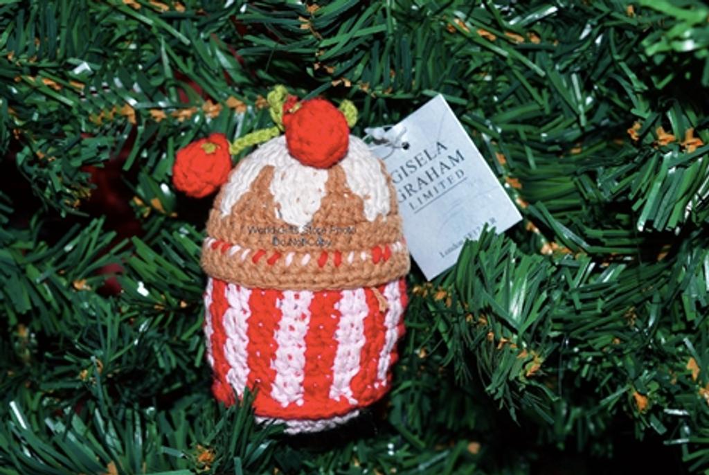Hand Knitted Cupcake